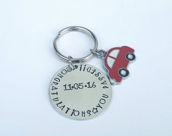 Passed driving test keyring. Gift for passing driving test. First car keychain. personalised car keyring. Daughters first car. Sons birthday