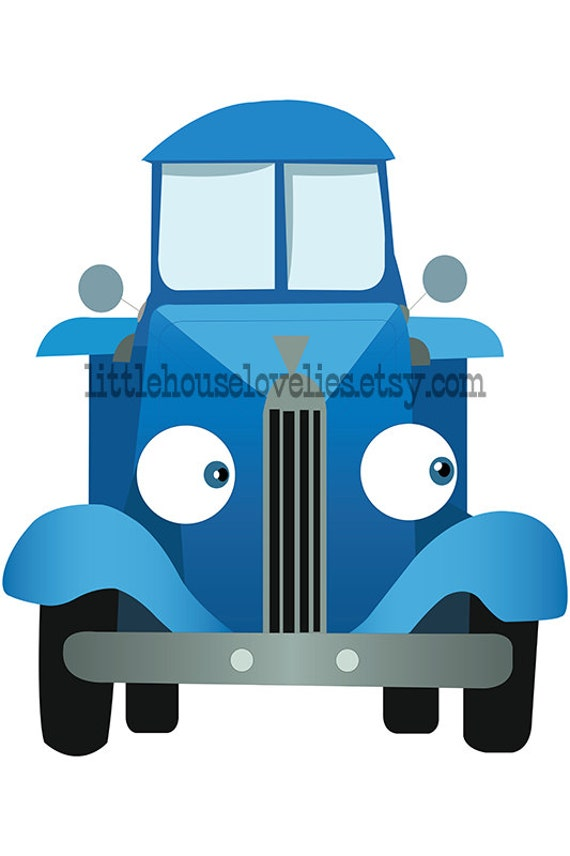 Little Blue Truck Birthday Poster Printable By