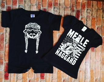 Merle haggard t shirt (infant-adult)