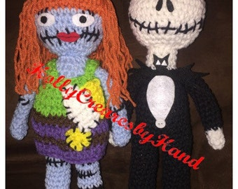 Crochet Jack and Sally Amigurumi Dolls