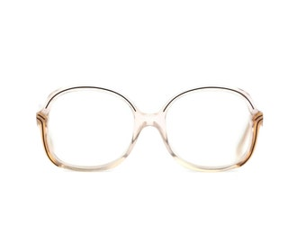 Woman transparent brown specs glasses vintage Retro Frames clear fashion prescription 80s