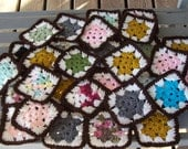 Set of 30,Granny,Squares,Crochet,Clothes,Bags,Decorations,Applique,Crafts,Supplies,Afghans,Lapghans,Multi Color,Donations