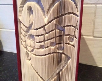 Music of Love Cut and Fold Book Folding Pattern