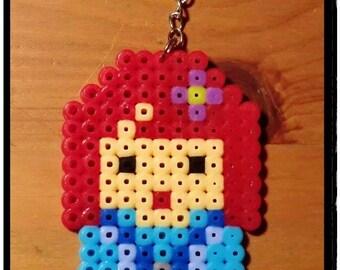 Keychain Blue Kokeshi Doll