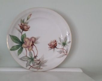 Vintage Meito China, Woodrose Pattern  Bread And  Butter Plates (B)