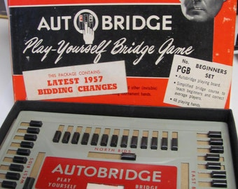 Deluxe Pocket Model Autobridge Original Box & Papers 1950