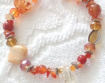 Orange Crystal Bracelet