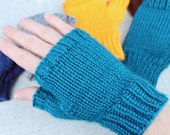 Fingerless Gloves, solid ...