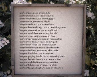 My I Love You  // 17x17 Handmade Sign