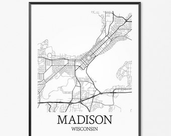 Madison Wisconsin Mid West Art Madison Skyline Madison