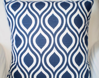 Navy Blue Decorative Throw Pillow Covers, Cushions, Throw Pillow, Couch Pillows, Decorative Pillow, Nicole, Geometric One or More All Sizes