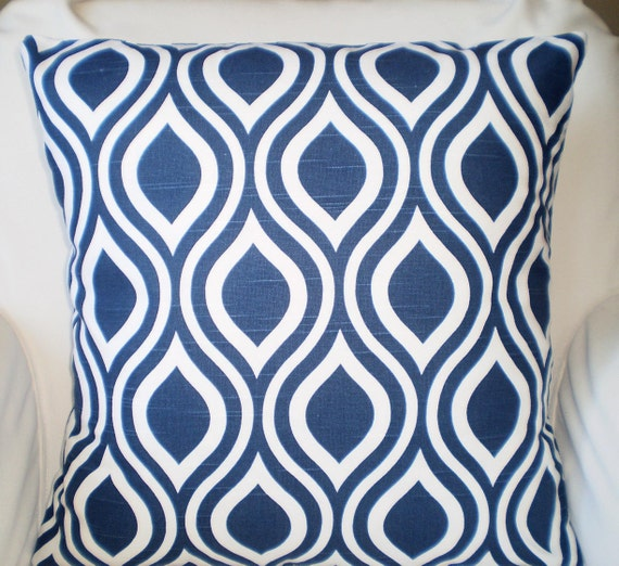 Etsy Navy Throw Pillow : Navy Blue Decorative Throw Pillow Covers by PillowCushionCovers