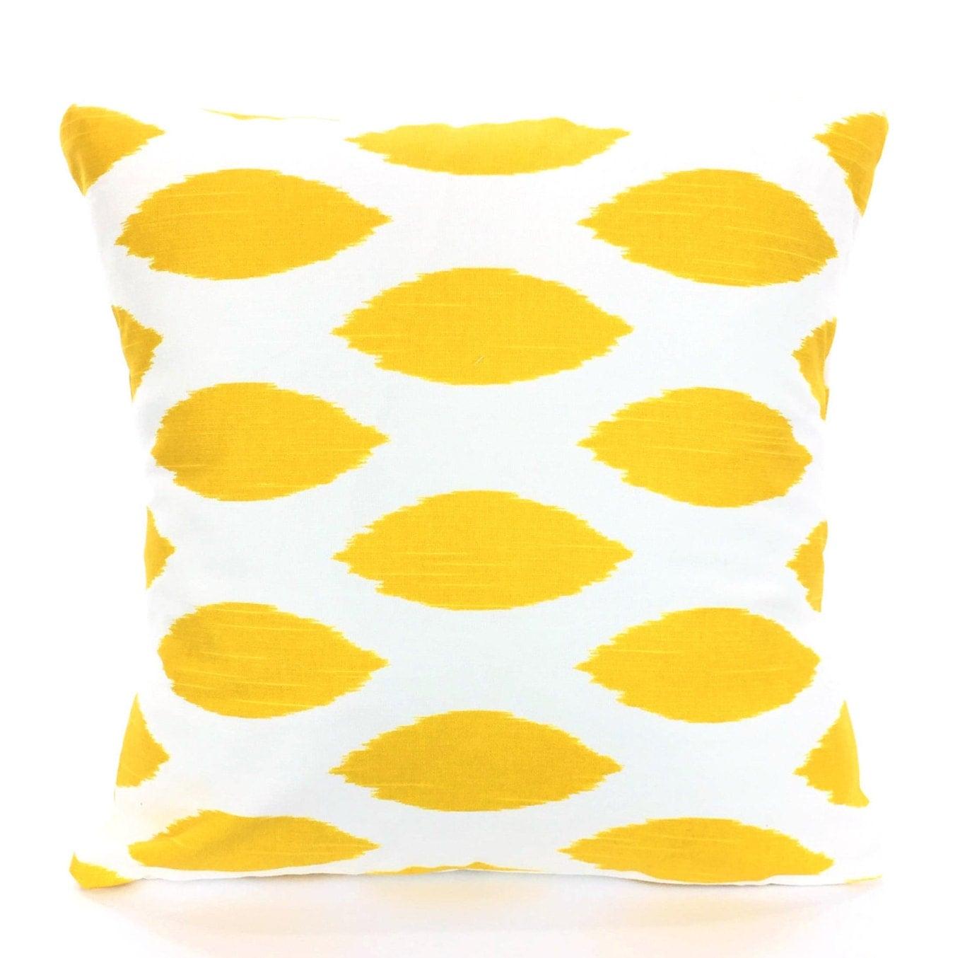Yellow Decorative Throw Pillows : Yellow Decorative Throw Pillow Covers Cushions Corn Yellow