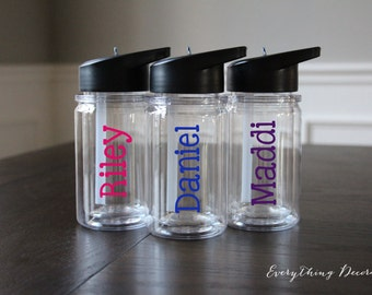 Personalized Water Bottle, Kids Water Bottle, Kids Cups, Kids Tumblers, Kids Gift, Kids Gift Ideas, Kids Glasses, Gift for Kids, Tumbler