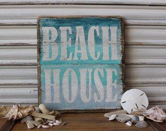 Rustic Beach Decor Sign House Weathered Signs