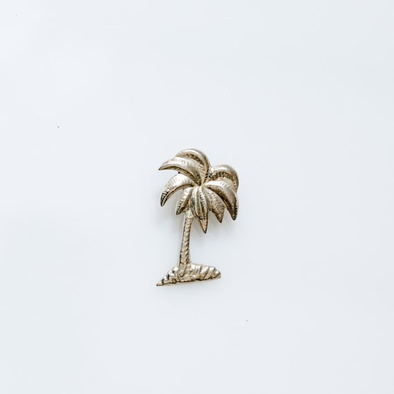 palm tree pendant sterling silver charm vacation jewelry