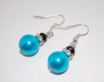 Glass Pearl Earrings, Beaded Earrings,Drop Earrings ,Dangle Earings ,Boho Jewelry ,Gift For Her