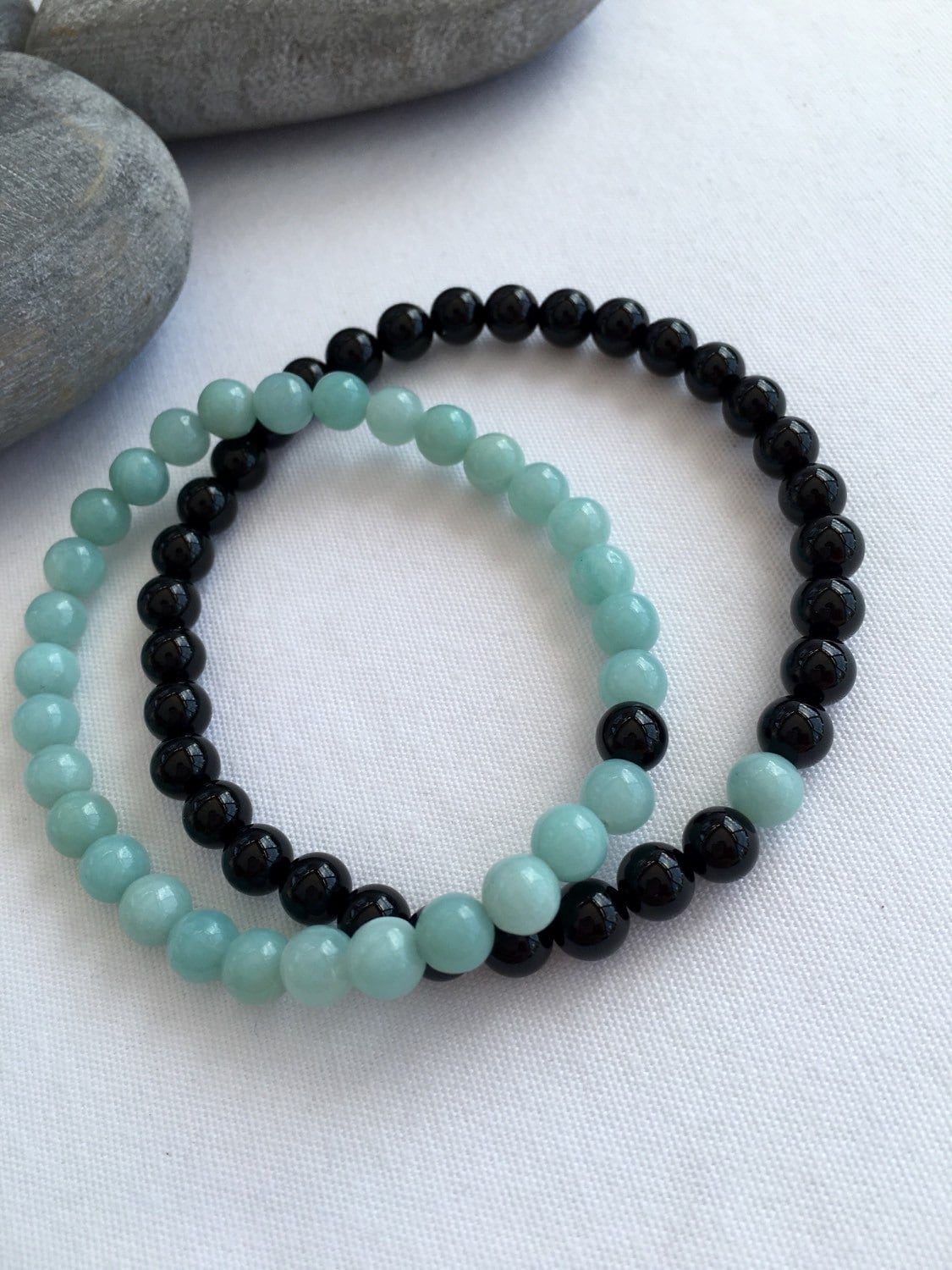 couples bracelet and necklace amazonite and black onyx couples bracelets you complete me 7331