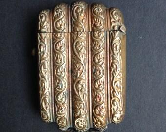 Antique Brass Vesta Case