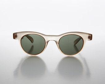 Small Round Horn Rim Preppy Vintage Deadstock Sunglasses - Sydney