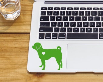 SUMMER SALE! Puggle Sticker Puggle Decal With Heart Car Laptop Vinyl Decal Sticker