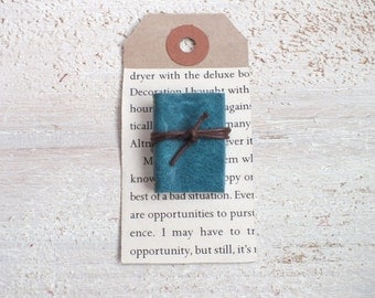 Leather Notebook Brooch