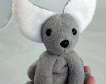 Silver Fennec Fox Plush -- Furrmiliars