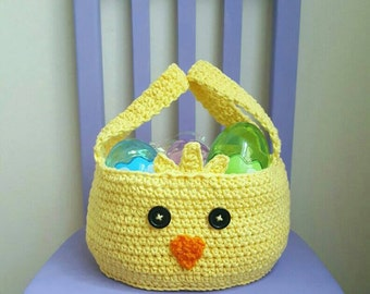 Chickadee Easter Basket Crochet Pattern *PDF FILE ONLY* Instant Download