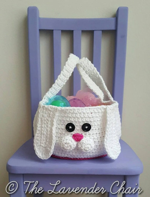 Chubby Bunny Easter Basket Crochet Pattern  *PDF FILE ONLY* Instant Download
