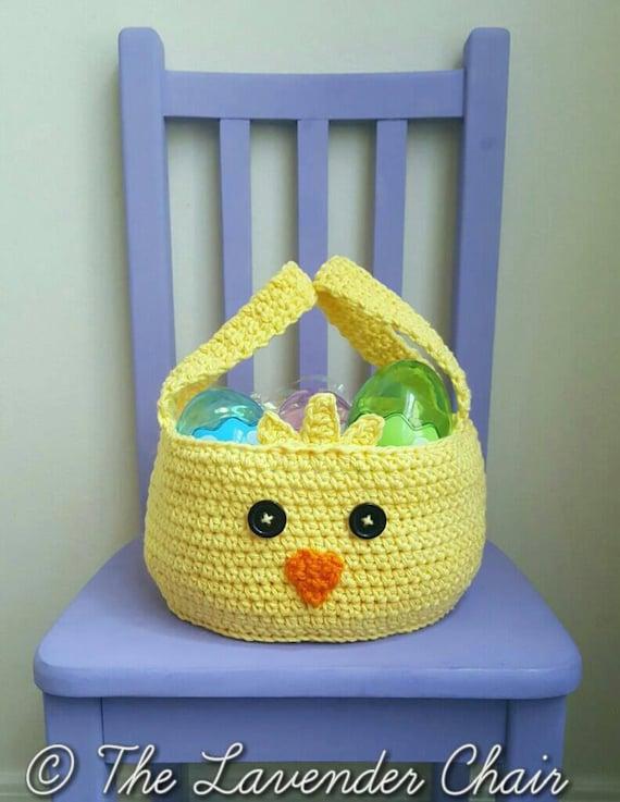 Chickadee Easter Basket Crochet Pattern *PDF FILE ONLY* Instant Download