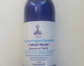 Fragrant Body Mist ~ Tehuti Musk(Men)//Organic+Essential Oils//Yael's Moon 4 oz