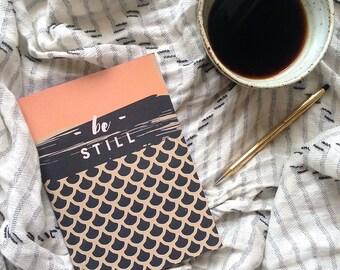 Be Still (Pink & Navy) | Notebook