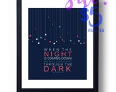 Through The Dark Song Lyrics Print One Direction | Digital Print