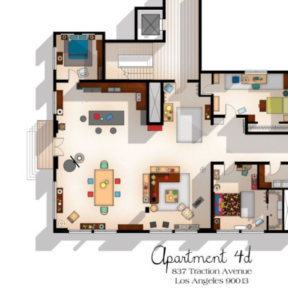 New Girl TV Show Apartment Floor Plan New Girl TV Show Layout