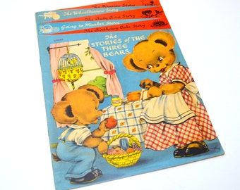 The Stories of the Three Bears, Hard to Find Vintage Children's Book, Illustrated by Margot Voigt, 1940s