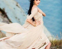 Bohemian Wedding dress, Boho wedding dress, Hippie wedding dress, Grecian wedding dress, Alternative wedding dress, Long wedding dress