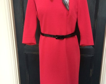 Vintage 1960's dress. Bright pink.UK size 16