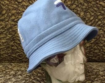 Vintage Light Blue Bucket Hat 80's