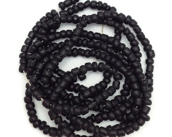 Maasaiperlen, Africa, black, 2mm with 1 strand, 58cm, seed beads, african beads, glass beads, African beads, glass beads, tiny beads