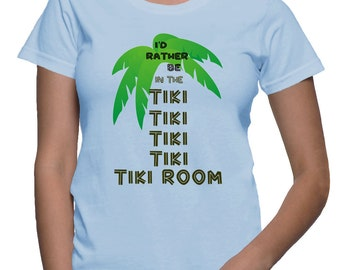 Enchanted Tiki Room I'd Rather Be in the Tiki Room Iron On Digital Download Iron-on Design Family Group Tees Disney Vacation Tees
