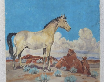 Original Painting of a Mustang