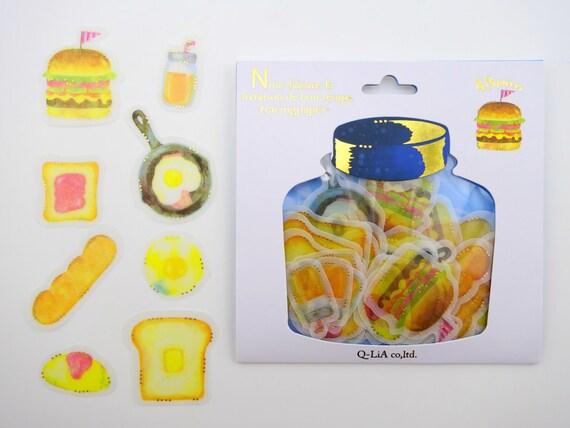 Cute food stickers Japanese sticker flakes kawaii food
