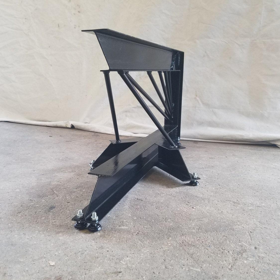 Steel Coffee Table Legs Australia: Cantilevered Steel I-Beam Table Legs. Industrial Modern
