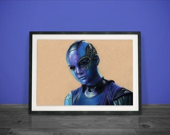 Nebula, Guardians of the Galaxy - Fine Art Print - A4