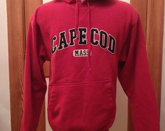 CAPE COD / coldweather hoody / red pullover / CUFFY'S brand / mens M