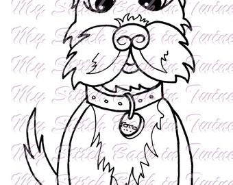 Digital stamp colouring image - Oz Toto. jpeg / png