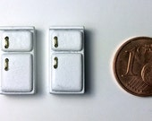 Micro frigorifero scala 1/144, fatto a mano, modello originale