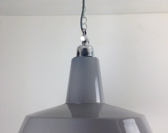 Large Grey Industrial Ceiling Light
