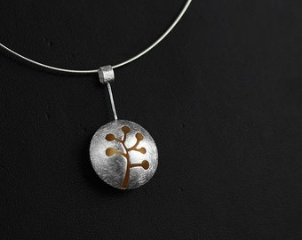 Cutout Cranberry Necklace Cranberry Fruit Shape Gold-plated Sterling Silver Pendant Women Pendant Exclusive Design