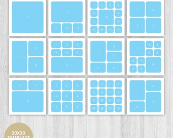 Storyboard Template, Blog Template, Blog Board Template, Photo Story Board,  Square Template